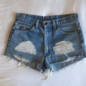 Vintage Levi's cutoffs x Urban Outfitters